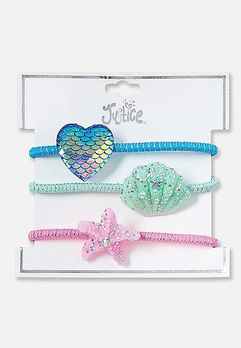 Ocean Charm Hair Tie - 3 Pack  76a51ec9ef0