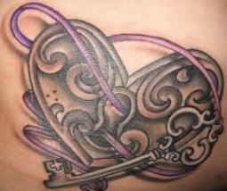 Tatuaggio lucchetto a forma di cuore con chiave significato e immagini