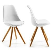 2x Chaises Design Ralf Wood