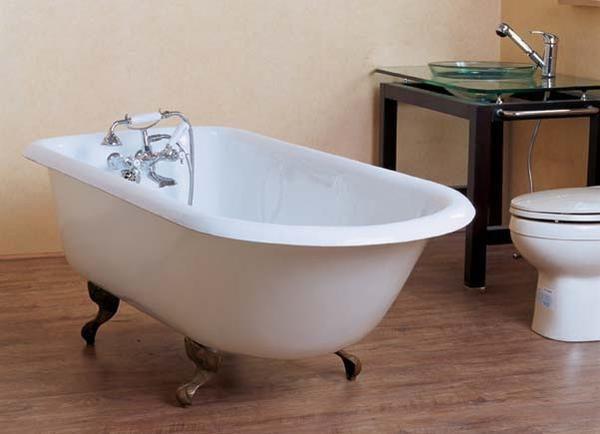 Captivating Irene 54 Inch, 57 Inch, 61 Inch, 67 Inch Cast Iron Roll Top Bathtub