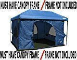 Standing Room 100 Family Cabin Camping Tent With 8.5 feet of Head Room, 2 Big Screen Doors (4 Big Screen Doors with Grey XL), Fast & Easy Set Up Cabin Tent, Family Tent, Large Tent, Big Tent, Canopy Frame Not Included! #campingtents #CampingTents101
