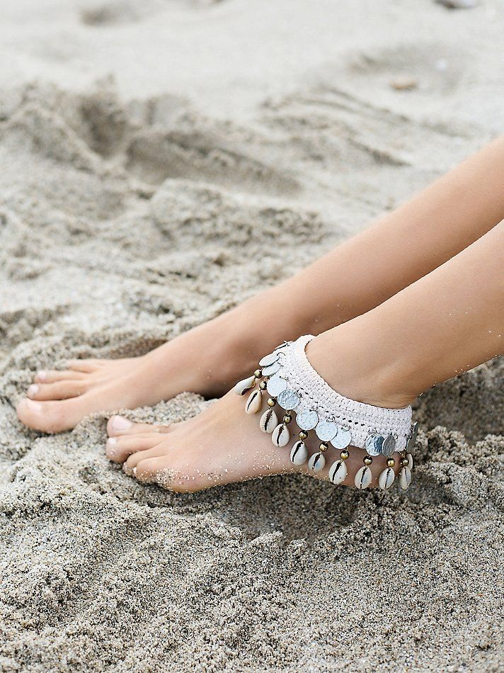 Free People Avoca Shell Anklet, $28.00