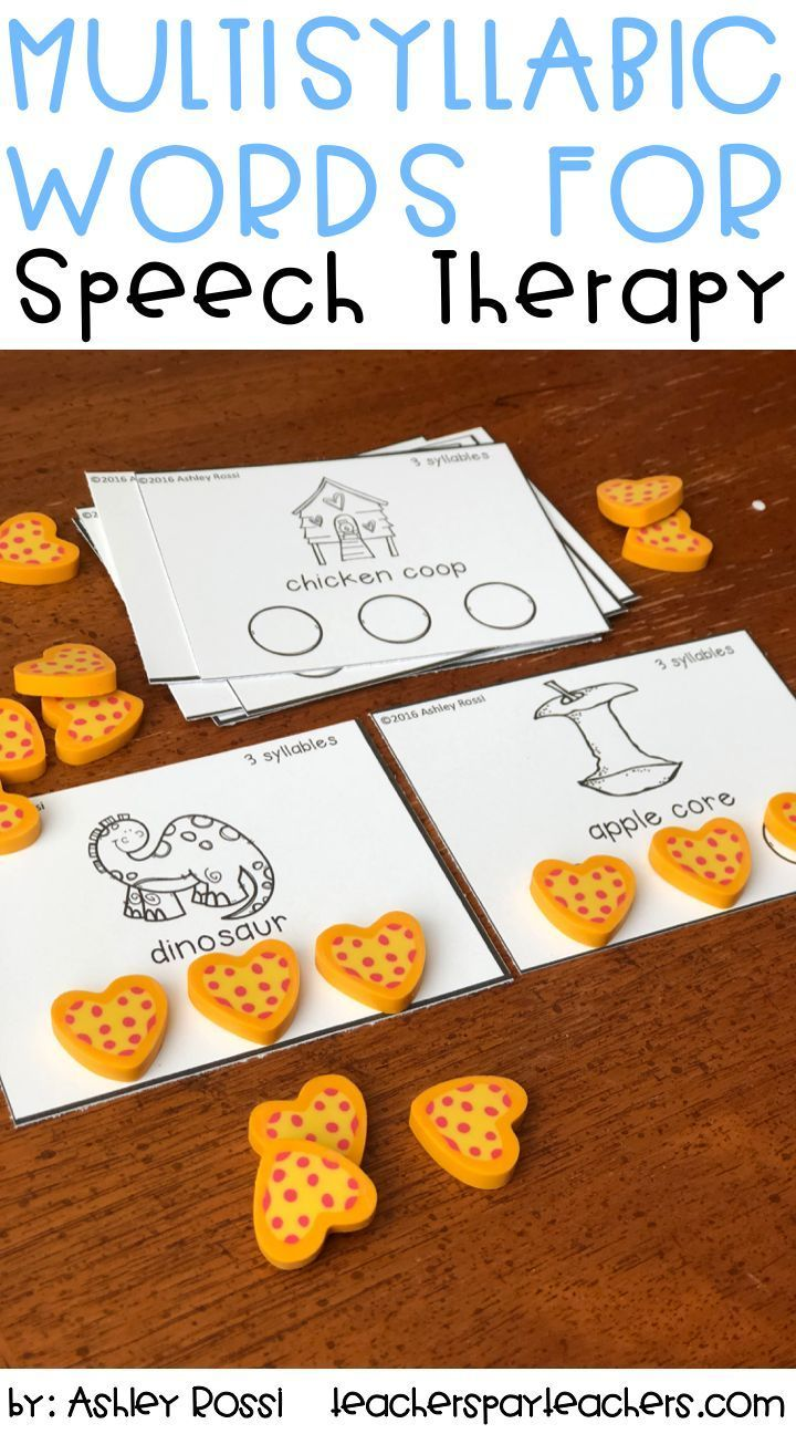 Nothing better than giving students a tactile activity to work on syllables. This activity is perfect for my Apraxia students in speech therapy. #apraxia #speechtherapy
