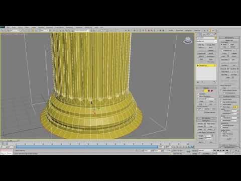 3Ds Max Tutorial: Modeling architectural column - YouTube