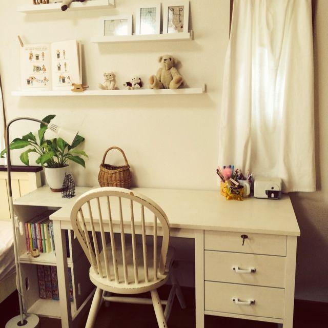 飾り棚/IKEA/モモナチュラル/子ども部屋/勉強机/My Desk…などのインテリア実例 - 2014-05-05 01:36:17   RoomClip(ルームクリップ)
