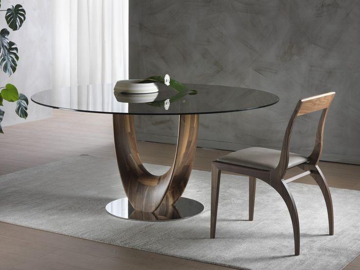 Descarga el catálogo y solicita al fabricante Axis | mesa redonda By pacini & cappellini, mesa redonda en madera y vidrio diseño Stefano Bigi