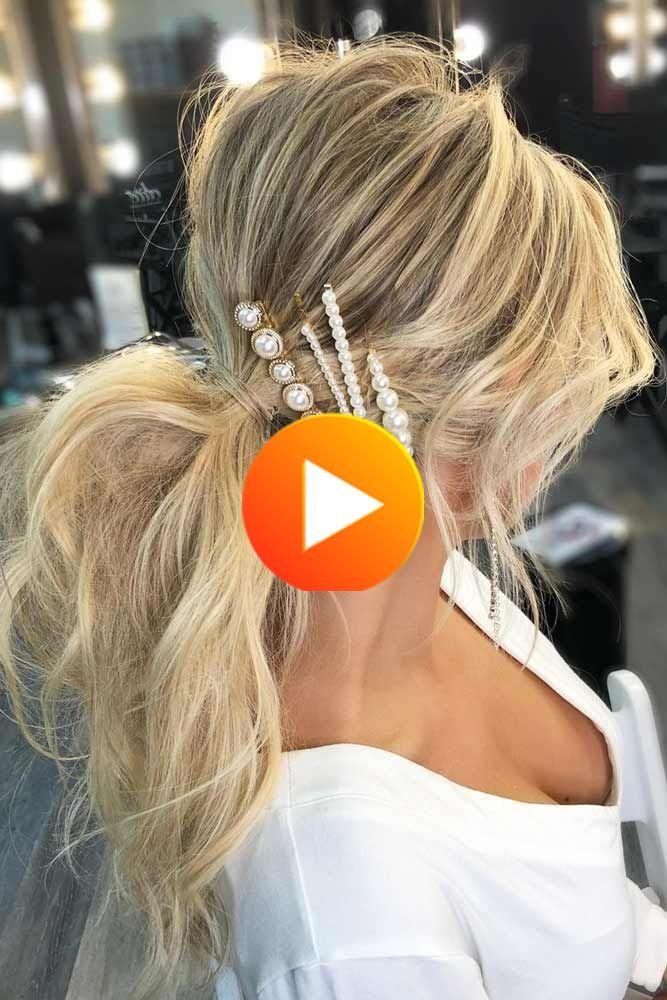 Haarspangen Sind Ein Unentbehrlicher Teil Der Haar Styling Kunst Daruber Hinaus Sind Sie In Der Stadt Zuruck Erhalte In 2020 Haarspangen Pferdeschwanz Frisuren Haare