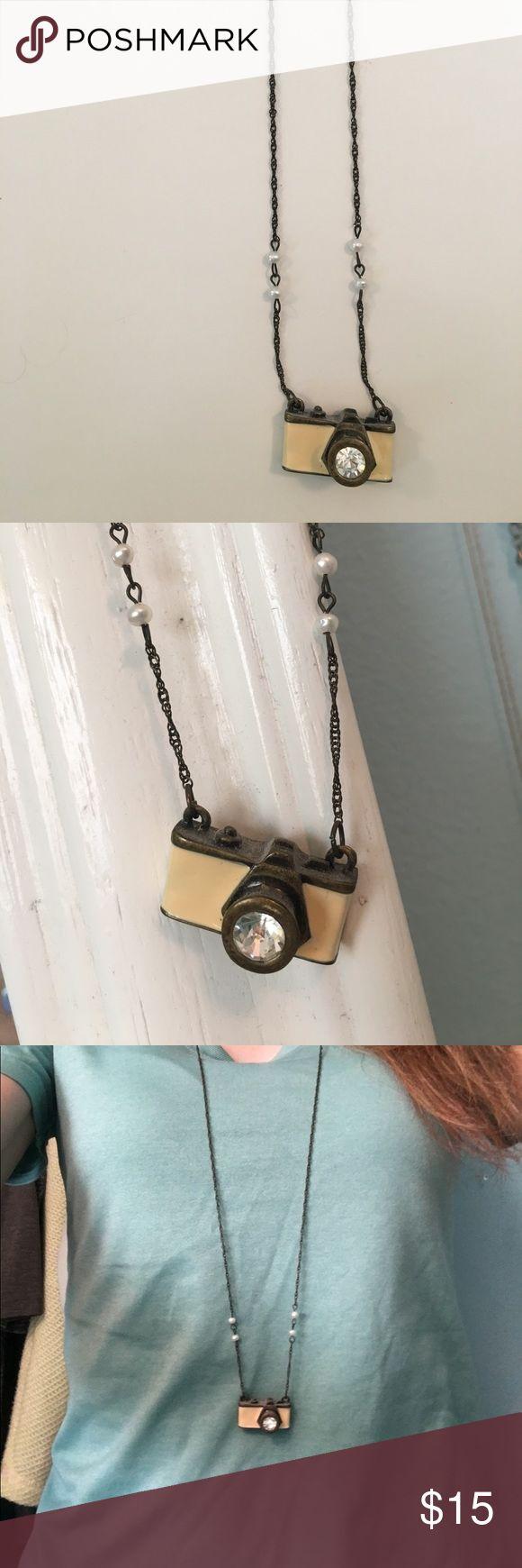 Lauren Conrad Camera Necklace Long camera necklace by Lauren Conrad LC Lauren Conrad Jewelry Necklaces
