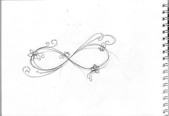 Small neck tattoo - infinity love tattoo