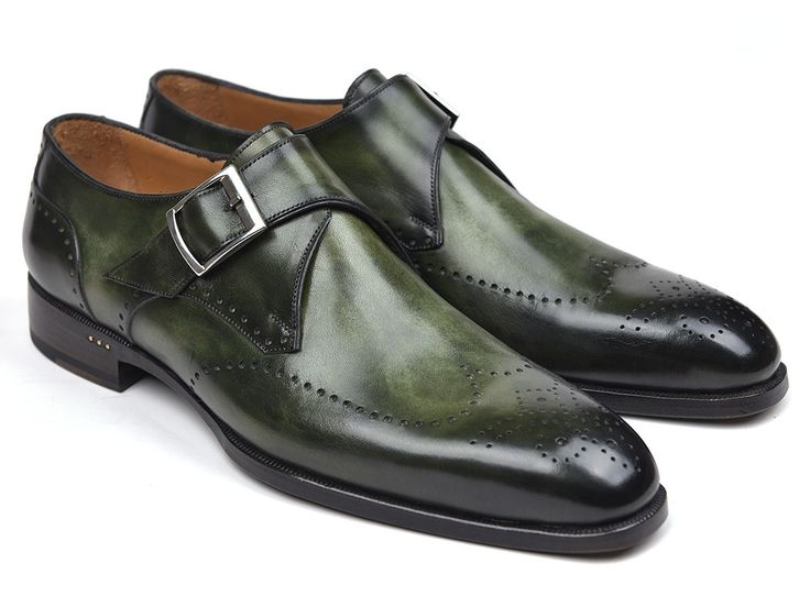 Monk Strap Shoes Single Green - PRO Quality
