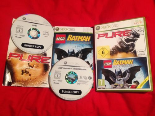 Lego #batman the #videogame xbox 360 game & pure xbox 360 game #bundle 2 in 1,  View more on the LINK: http://www.zeppy.io/product/gb/2/152304799513/