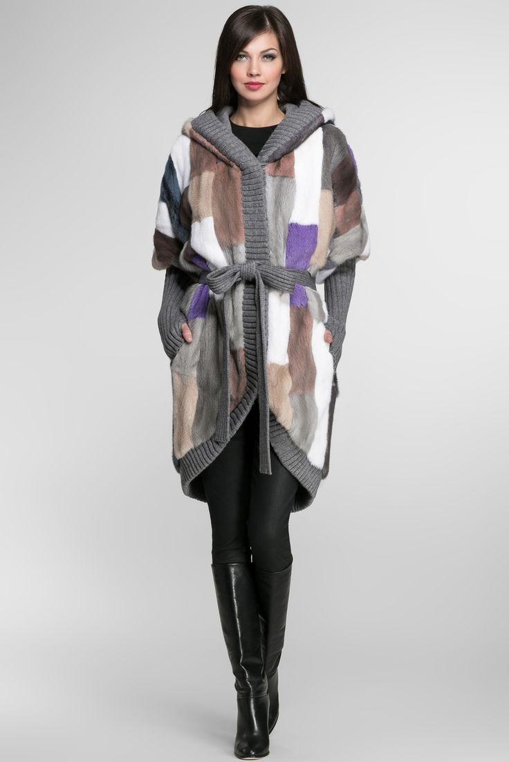Igor Gulyaev Норковое пальто+пояс 17987-32