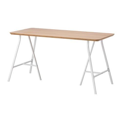 HILVER / LERBERG Tisch Bambus, grau IKEA Deutschland