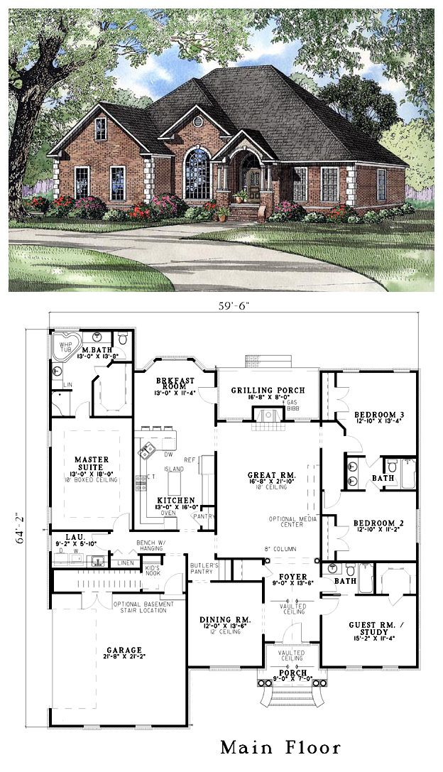 215 best images about floor plans on pinterest house for Family home plans 82230