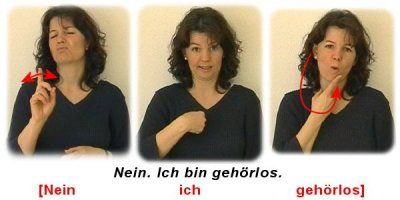 Sign language in Germany (article has errors)