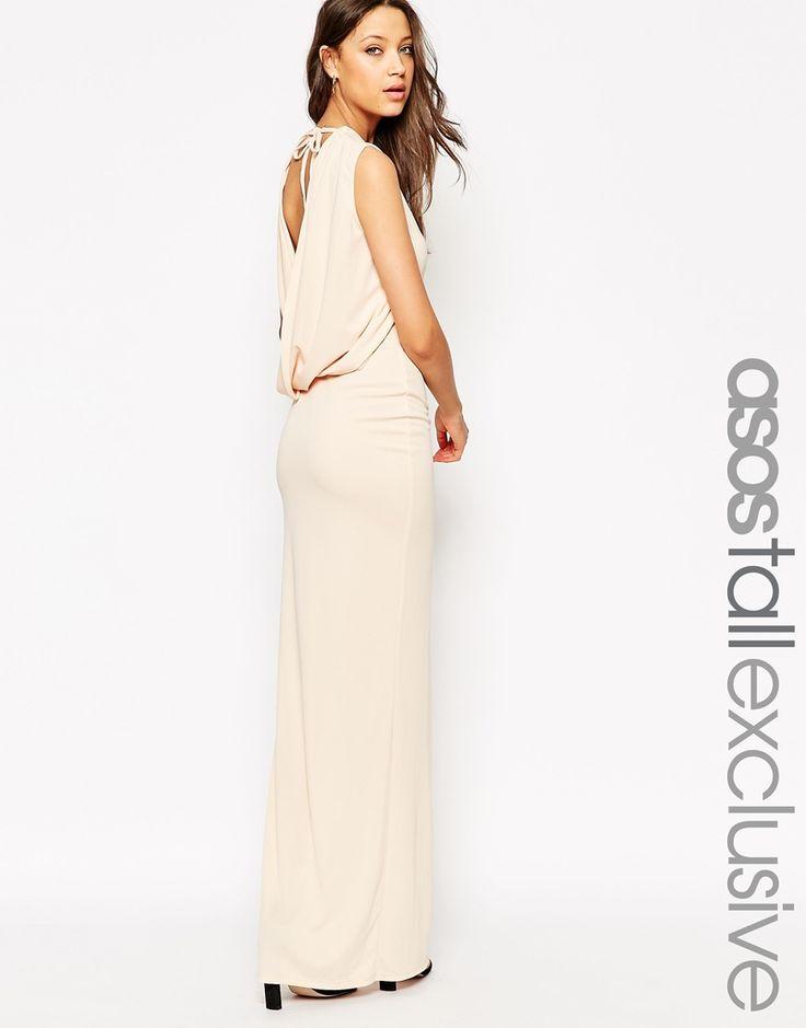 Image 1 ofASOS TALL Sleeveless Cowl Back Maxi Dress