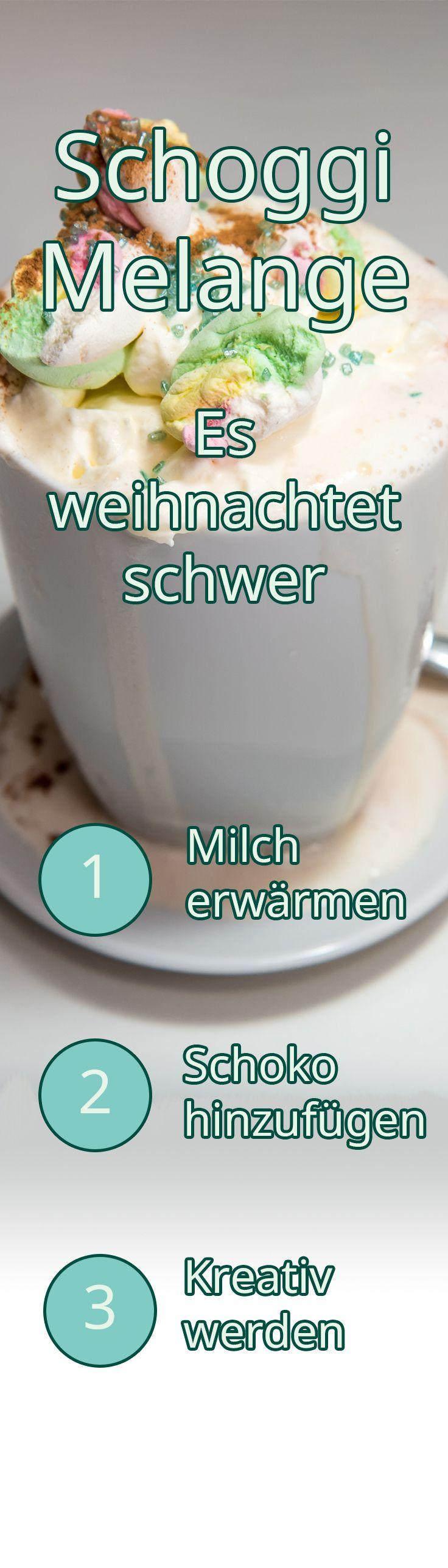 Schoggi Melange - Es weihnachtet schwer!  Langsam wird's kalt und dunkel, Scheiben kratzen, warm anziehen, viel Tee trinken…. Meine Zeit! Nun muss ich kein schlechtes Gewissen mehr haben, zuhause rumzugammeln.