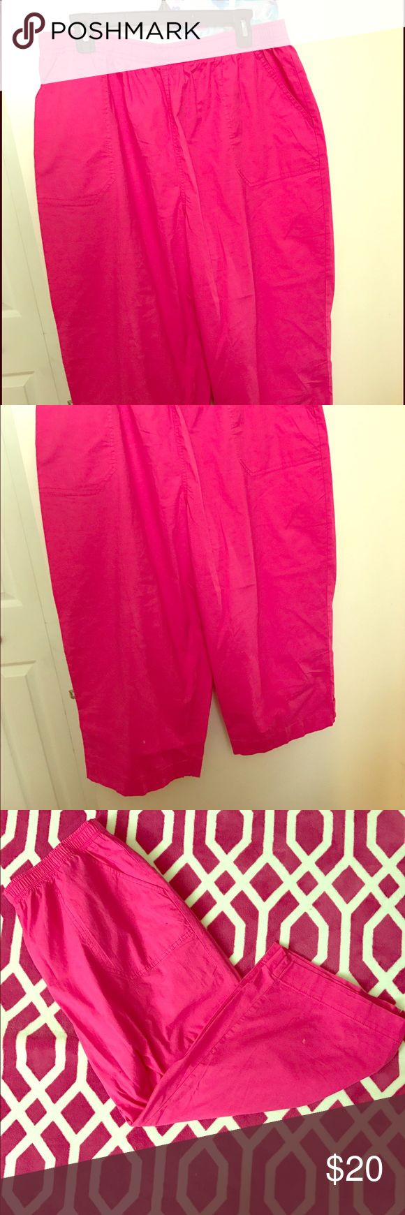 Kim rogers hot pink pants Super comfy, 100% cotton, brand new with tags, negotiable price. Kim Rogers Pants Capris