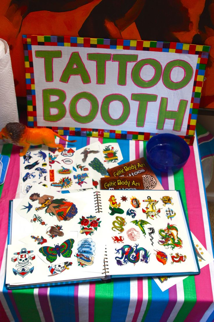 Tattoo Booth...something the kids be in charge of at the relay!! More