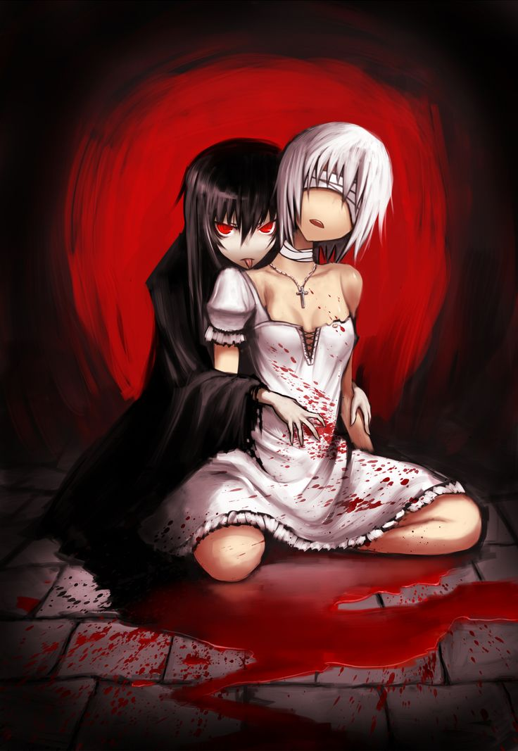 Mine. Her blood is mine. | Sweet Blood | Vampire girls ... Аниме Девушка с Косой