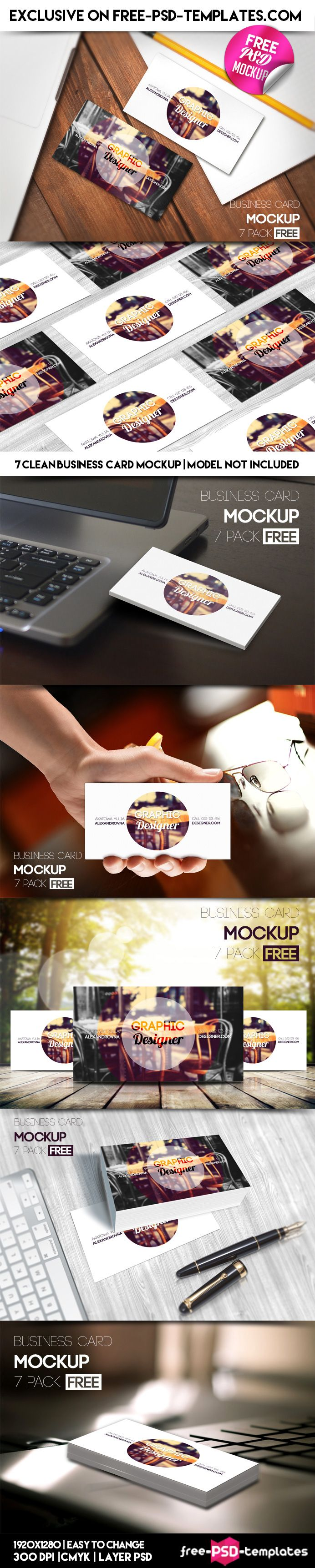 7 Free PSD Business Card Mockups on Behance