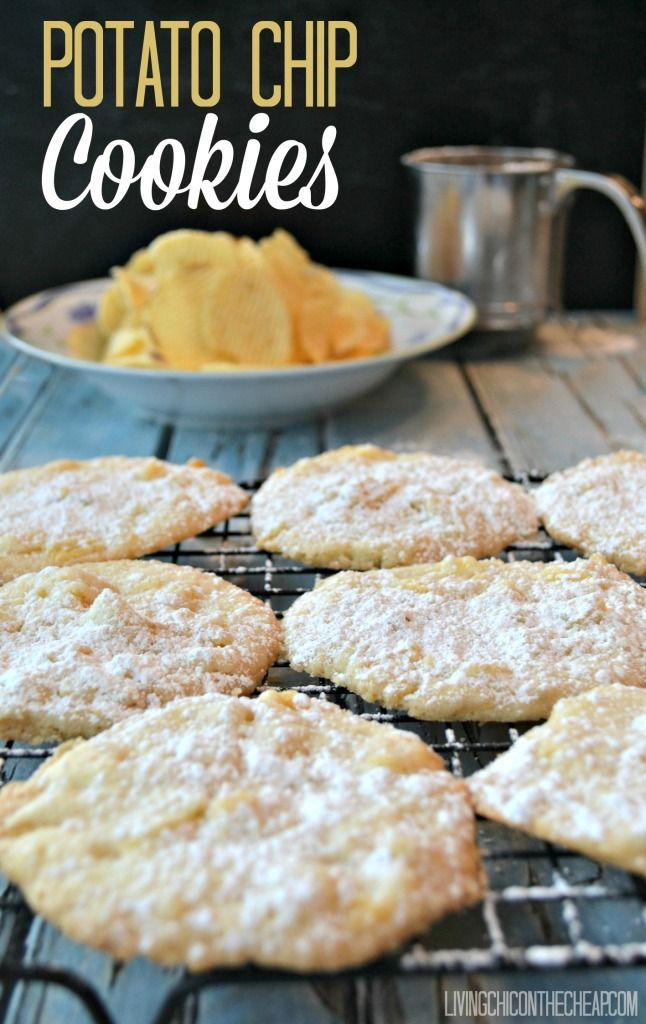 Potato Chip Cookies - a delicious dessert recipe when you need an idea for a treat that's salty and sweet!