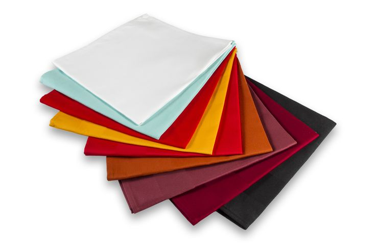 Our Napkins are made of Damask, that has elegant look and come in various colors.