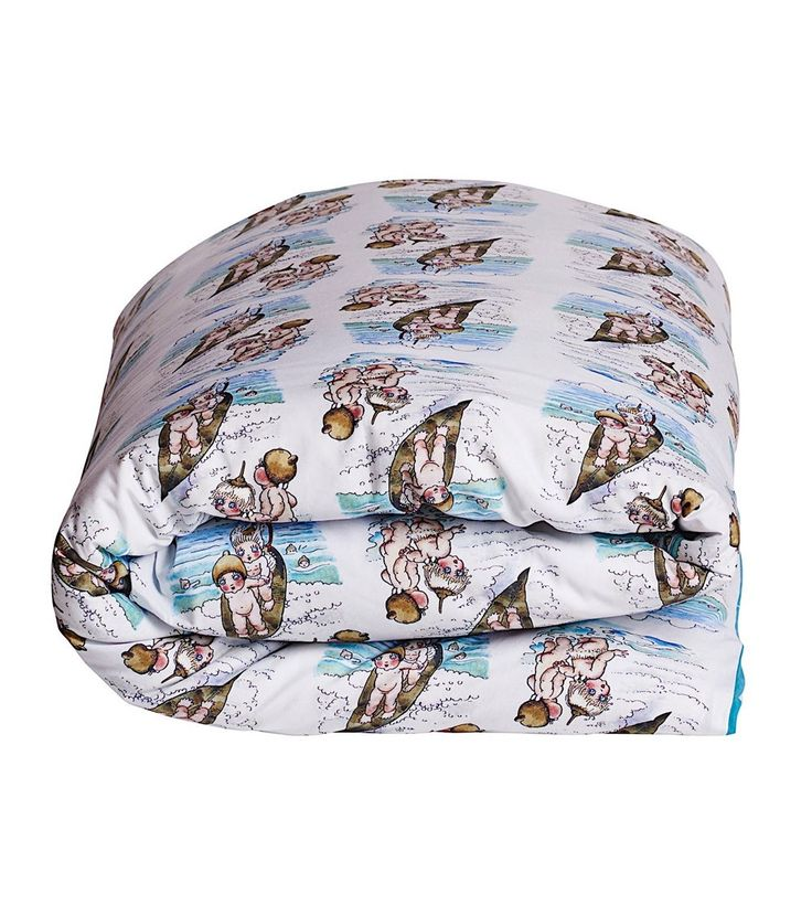 May Gibbs x Kipp and Co Surfs Up RV Brittany Blue Cotton Quilt Cover, Home and Gifts, www.oishi-m.com
