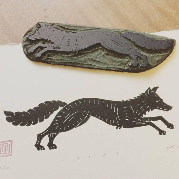 Fox Linocut Print by Inkshed Press