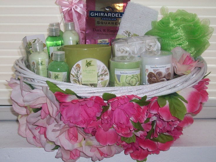 """(Spa Gift Basket) One of a kind.  """"Item Sold"""" http://www.bonanza.com/booths/pat21"""