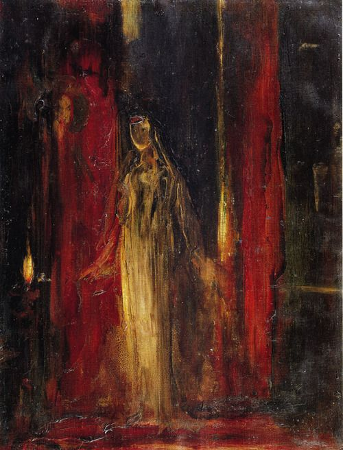 Artwork by Gustave Moreau - Study for Lady Macbeth, ca. 1851