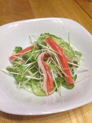 減塩低糖質カニカマとカイワレのサラダの写真