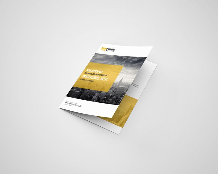 A5 Bi Fold Brochure Mockup - Free on Behance