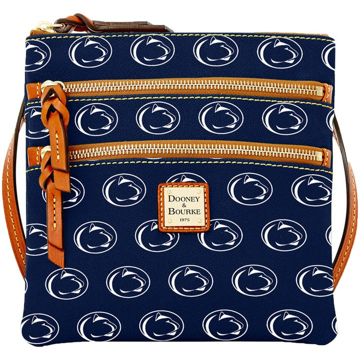 Women's Dooney & Bourke Navy Penn State Nittany Lions Triple-Zip Crossbody…