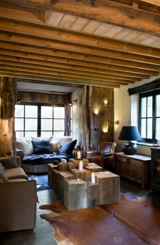 Belgie, hutten (2/4 pers) , kamperen en/ of een sfeervol huis voor 6 personen. Het domein van de Molen van Rensiwez ligt vlak in het bos bij de rivier de Ourthe met een erg besloten vallei en schitterende uitkijkpunten .