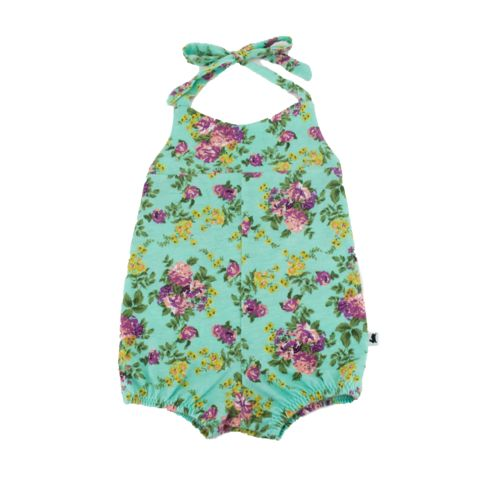 Baby Romper - Tropical Flowers - Ready to ship - Little & Lively