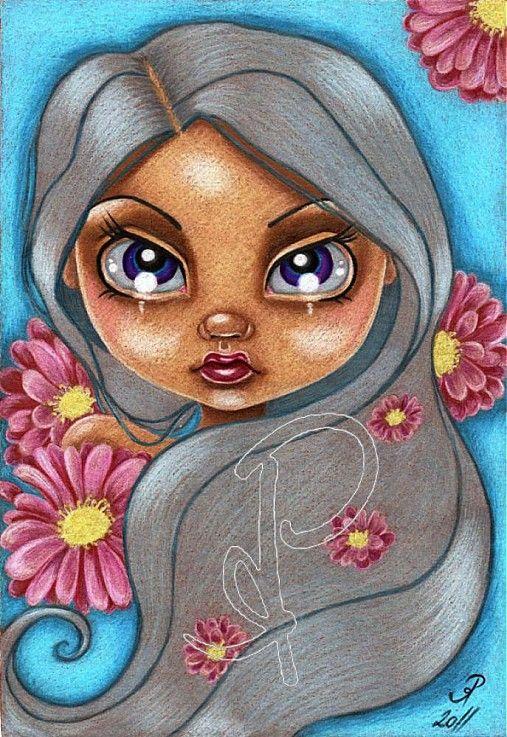 ..kvetinová.. by Hotarubi - SAShE.sk - Handmade Obrazy