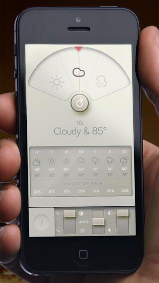 Weather Dial - A Simpler, More Beautiful Weather App David Elgena 깔끔한 심플 날씨