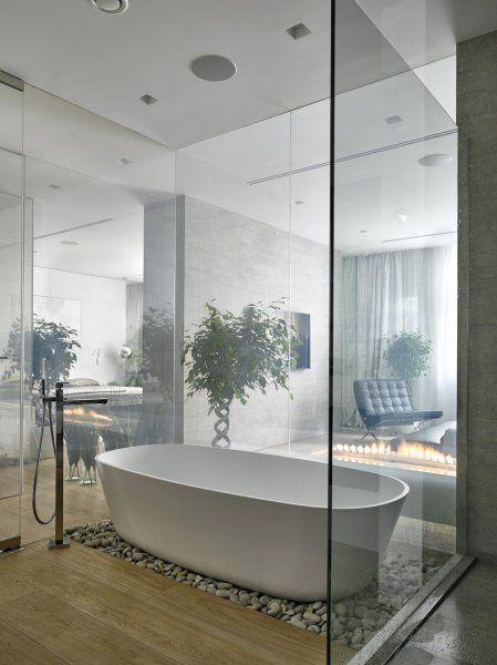modern lakás természettel harmonizáló anyagok / Modern Bathroom