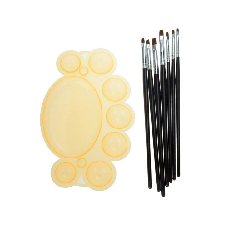 Beau Gel Nail Art Painting Tool Pen Set Kits Pro Nail Brushes and Plastic Material Palette for Nails Paintting Manicure Kits