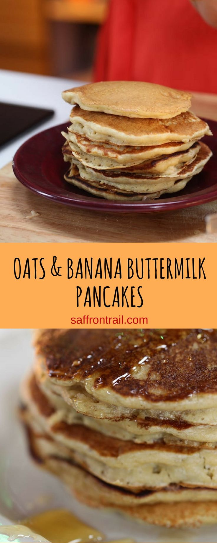 These Oats and Banana Buttermilk Pancake is proof of when delicious and healthy eating go hand in hand!