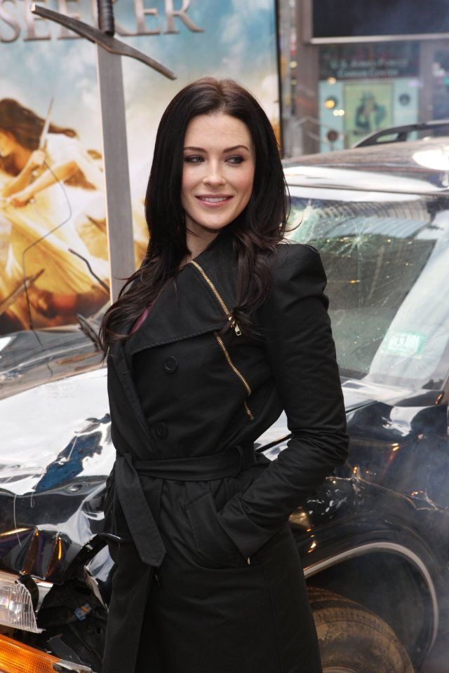 Actress Bridget Regan at the Legend of the Seeker Sword of Truth unveiling at Military Island, Times Square on in New York City