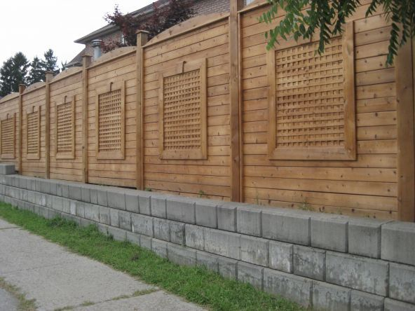 Unique Wood Fence Designs Wood Fences Omega Pools Inc