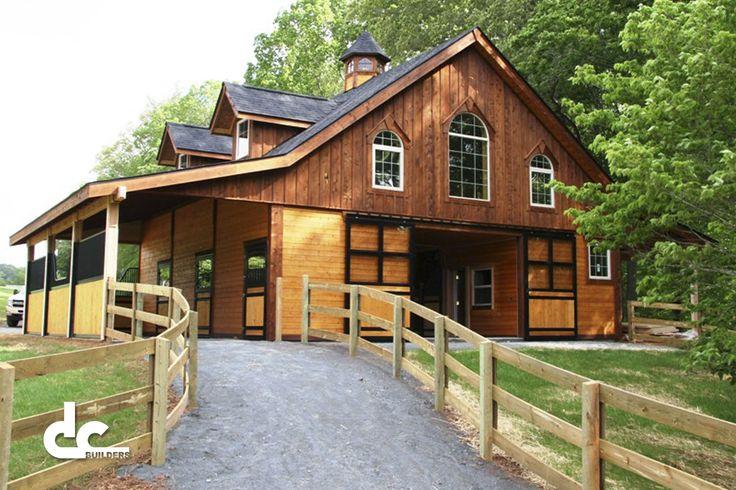 Custom Horse Barn In Raleigh, North Carolina