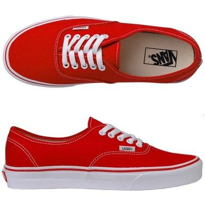 vans classic authentic red mens trainers