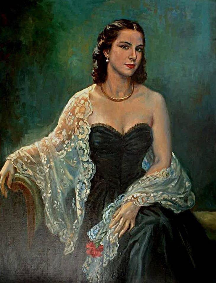 Enriqueta Contreras Carretero, esposa del pintor George Owen Wynne Apperley.