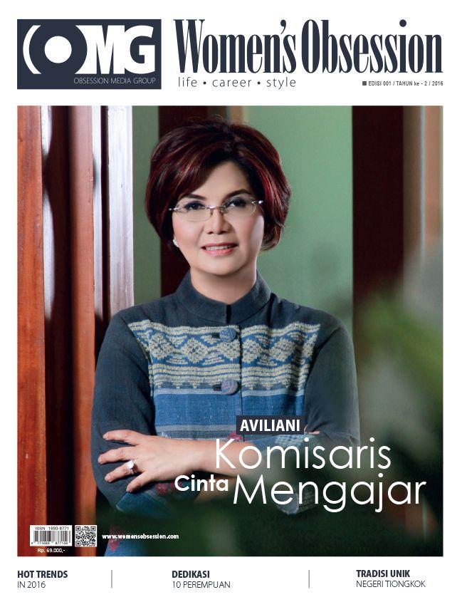 March 2016 issue with Aviliani, commissioner of Bank Mandiri on cover #aviliani #bankmandiri