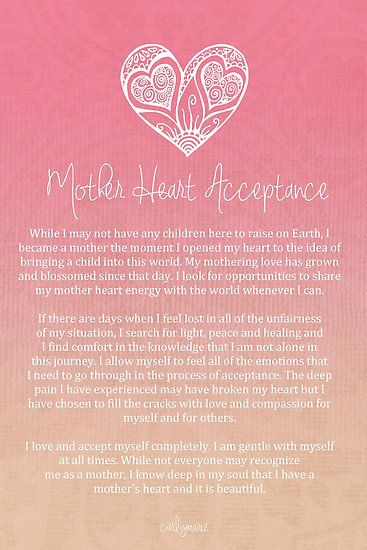 Affirmations Mothers And Heart On Pinterest