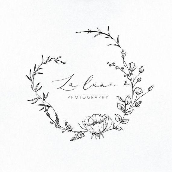 Premade Logo Logo design Brand Design Business logo  Custom Branding package | Botanical Nature Flor