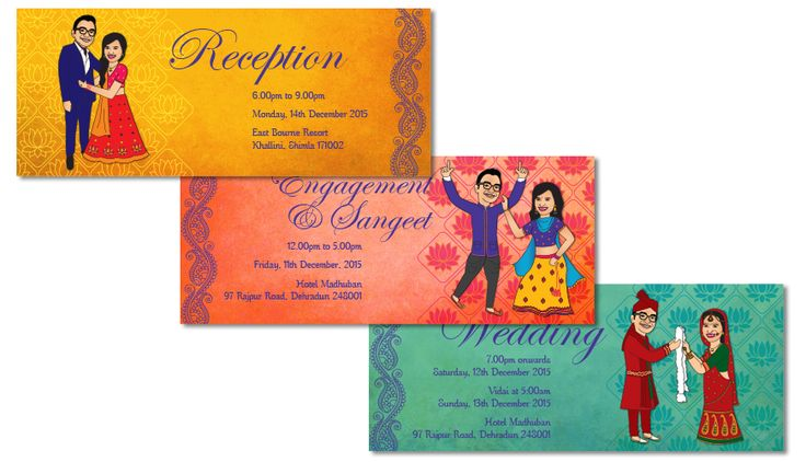 """The couple said""""love our card. Thanks so much for designing it, Mekala. It sure was a stunner!"""""""